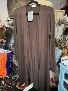 Amiable Kettlewell Colours Size Med Brown Cardi Wrap Bnwt Over Jacket Demand Exceeding Supply