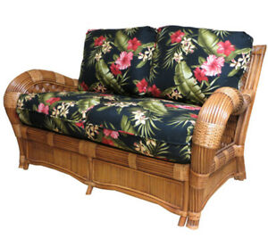Swell Details About Kingston Reef Indoor Rattan And Wicker Loveseat From American Rattan Short Links Chair Design For Home Short Linksinfo