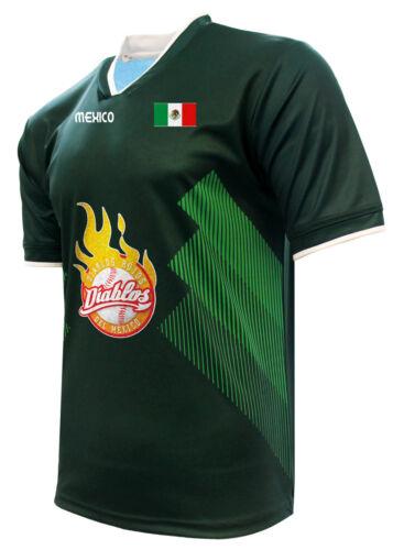 Jersey Mexico Diablos de Mexico 100/% Polyester/_Made in Mexico
