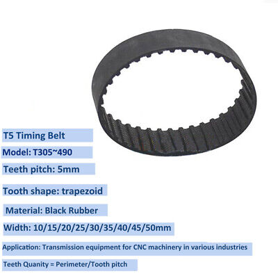 700~900 //Pitch 5mm Gear Timing Belt Transmission Drive Belt for CNC-Machine T5