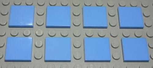 Kachel 2x2 Hellblau 8 Stück Lego Fliese 2279