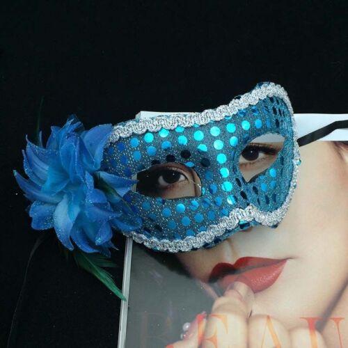 Women Halloween Flat Flower Mask Masquerade Costume Party Props Fancy Dress Up