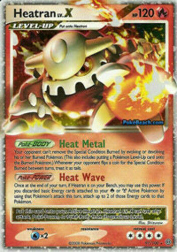 OtBG Heatran LV.X 97//100 Stormfront Pokemon Holo Foil LP Light Play