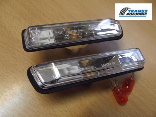 E36 99-03 E53 TRANSP WHITE SIDE LIGHT REPEATER INDICATORS SET BMW 3 90-00 X5