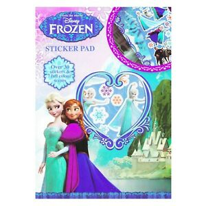 Official-Licensed-Disney-Frozen-Sticker-Pad-Over-30-Stickers-Elsa-Anna-Olaf