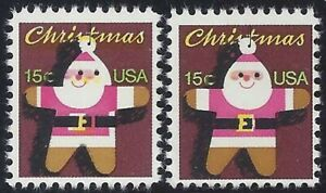 """1800 Multiple Color Shift Error/EFO Giving """"Santa"""" a Very Strange Smile Mint NH"""