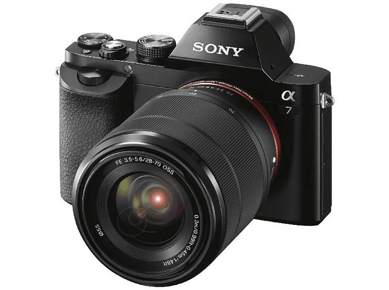 Sony Alpha ILCE 7KB, Sensor de 24.3 MP, Negro + Objetivo SEL...