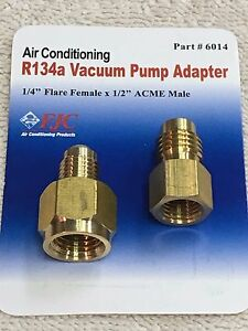 Details about R134 to R12 & R12 to R134a Brass Heavy Duty Tank Vacuum Pump  Adapter Set FJC INC