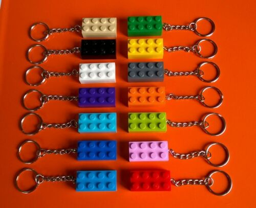 LEGO 35 x BRICK KEYRINGS  13 DIFFERENT COLOURS - NEW PARTY BAG
