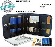 33pcs professional drawing supplies sketch pencil art kit tools set