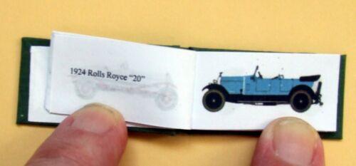 Dollshouse Libro Miniatura-la edad de oro de Motoring