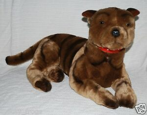 NEW* LARGE BRINDLE STAFFY STAFFORDSHIRE BULL TERRIER DOG SOFT TOY ...