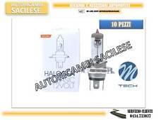 10 LAMPADINE ALOGENE H4 12V60/55W OMOLOGATE M-TECH ALTA QUALITA'