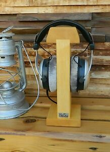 HeSy Wood Headphone Stand Holder handmade from solid ash wood