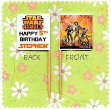 20 Personalizado Star Wars Rebeldes Cup Cake Bandera Partido Pick Topper Cumpleaños