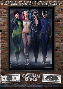 5-x-A3-Print-Set-Gotham-Girls-EVOLUTION-Poison-Ivy-Harley-Quinn-Catwoman-Batgirl