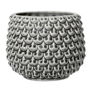 Blumentopf-Pflanzentopf-039-Grey-039-Keramik-Retro-Nordic-Skandinavisch-Bloomingville