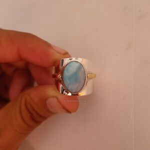 Larimar-stone-Ring-925-Sterling-Silver-Band-Ring-Jewelry-Handmade-All-Size-x-05