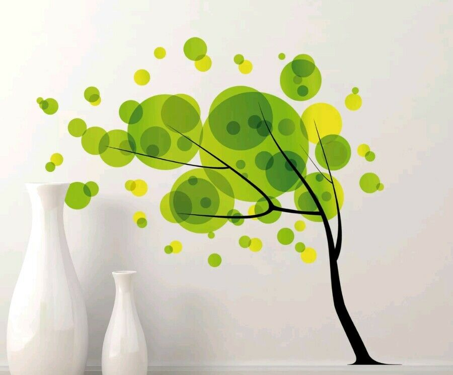 WallPops  Home Decor Line Tree in The Wind Wall Decal Removable Reuseable NIB