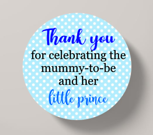 Baby Shower Stickers Thank you Stickers Favours Bags Sweet Cones Little Prince