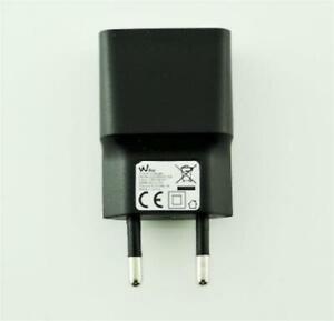 Caricabatteria-Travel-RETE-originale-Wiko-5V-1A-USB-UNIVERSALE-MICRO-USB-NERO