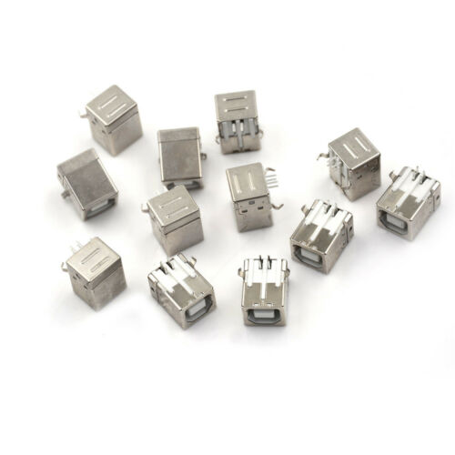 10x Plug Port Connector Socket PCB Replacement For USB Type B Female XR