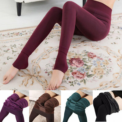 Femme Velours Collant legging Stretch Elastique Polaire Lustre Pantalons Chaud   eBay