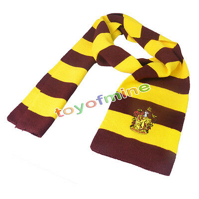Harry Potter rayada bufanda de Gryffindor/Slytherin/Hufflepuff/Ravenclaw Cosplay