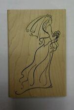 Rubber stamp Bride Wedding wood mounted Judikins 2853H