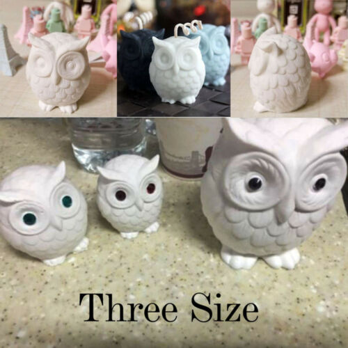 3D Owl Bird Candle Molds Soap Mold DIY Craft Wax Resin Mould Food Grade Silicone