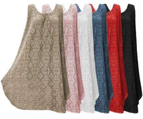 Sommerkleid Damenkleid Häckelspitze Blumen Hippiekleid Midi Kleid A-Linie 36-40