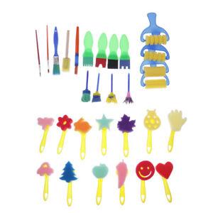 30Pcs Kids Painting Rollers Brush Art Paint Tool Sponge Rollers Set DIY