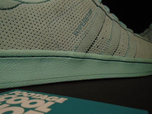 2018 Adidas Superstar RT gamuza perforada Claro Aqua 10.5 Verde AQ4916 nuevo 10.5 Aqua 094066