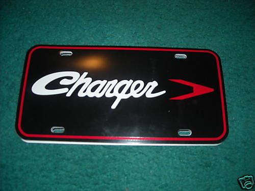 2006-2015 DODGE CHARGER SCRIPT EMBLEM LOGO LICENSE PLATE INSERT NEW BLACK RED