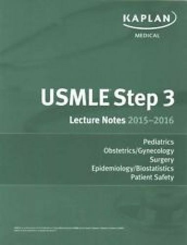 1 of 1 - USED (LN) USMLE Step 3 Lecture Notes Bundle by Kaplan Medical