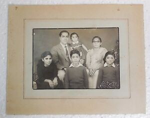Old Vintage Indian Nice Family Black White Photograph Collectible