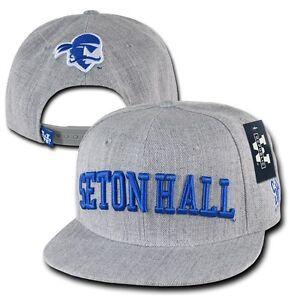 fb6b17c4781 Gray Seton Hall University SHU Pirates NCAA Flat Bill Snapback ...
