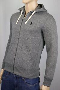 Sweat poney zippé gris Ralph gris à capuche Lauren noir b6g7yYf