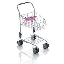 Molly Dolly Deluxe Metal Supermarket Shopping Trolley Childrens Kids Pretend Toy