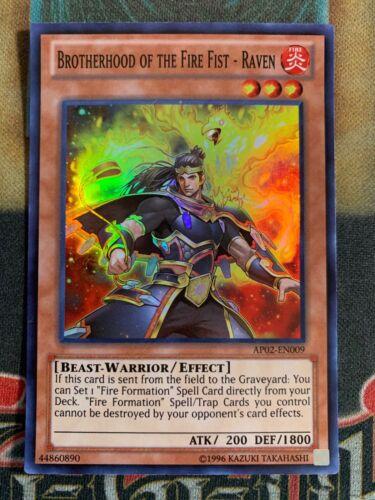 Raven AP02-EN009 Super Rare Yugioh Brotherhood of The Fire Fist