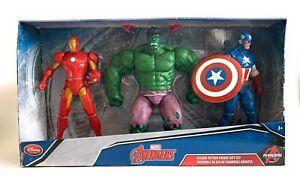 Marvel Avengers Iron Man, Hulk & Captain America Deluxe Action Figure Gift Set