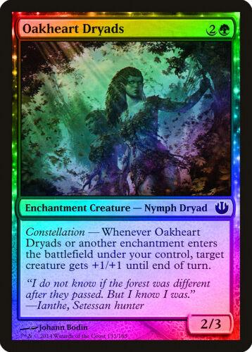 Oakheart Dryads FOIL Journey into Nyx NM Green Common MAGIC MTG CARD ABUGames