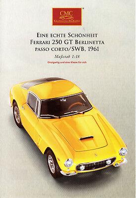 Fascicule Depliant 2 Pages Cmc Exclusive Modelle Ferrari 250 Gt Berlinetta 1961 Matige Prijs