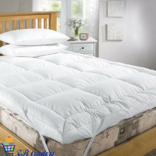 """4/"""" Inch Deep Luxury Quality Microfiber Soft Mattress Topper Super King Toppers"""