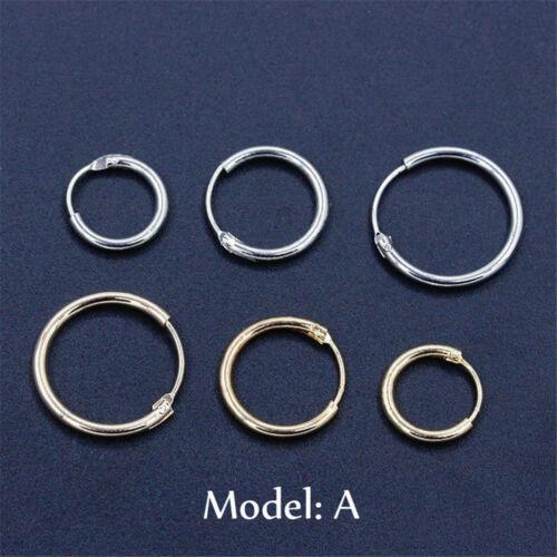3Pairs Fashion Simple Vintage Circle Small Hoop Earrings Set Women Punk Earrings