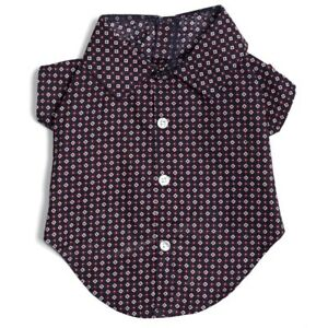 The-Worthy-Dog-Foulard-Navy-Shirt-100-Cotton-Preppy-Hipster-Sizes-XS-XXL