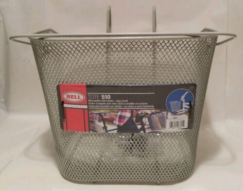 Bell Sports Bicycle Bike Tote 510 Handlebar Mount Durable Metal Basket in Gray