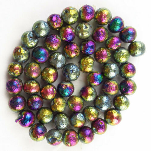 TITANIO Druzy Quartz Geode ágata de cristal piedra suelto bolas 15.5 pulgadas QF010