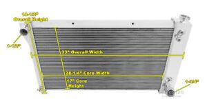 "19 x 28-1//4/"" Core 1973-91 Chevy K5 Blazer /& Suburban 3 Row RR Radiator"
