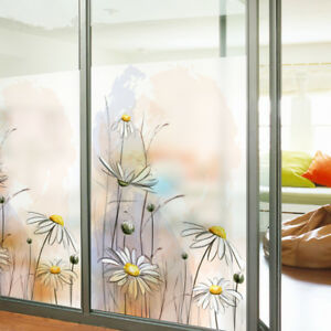 Details about Static Cling Decorative Window Film Vinyl Non Adhesive  Privacy Glass Film